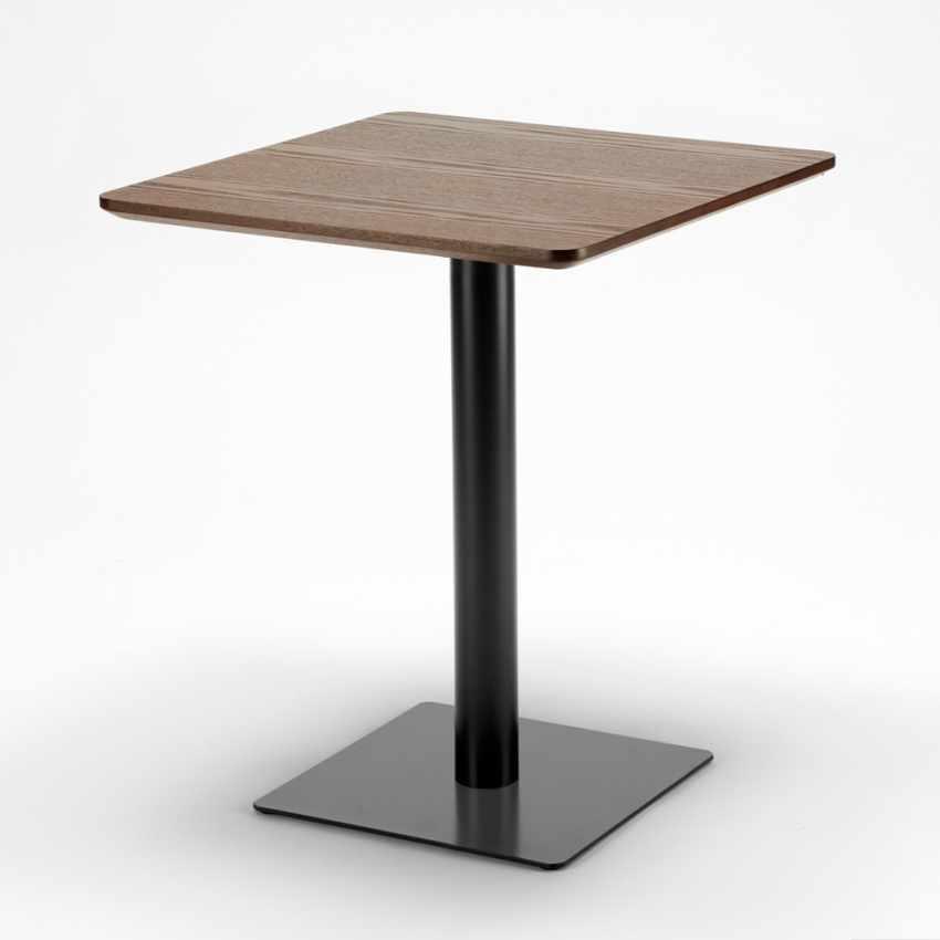 Tavolino 60x60 quadrato con base centrale per bar bistrot HORECA - interno