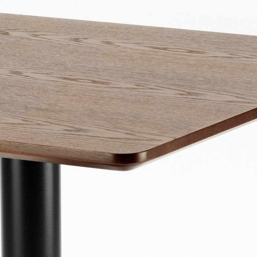 Tavolino 60x60 quadrato con base centrale per bar bistrot HORECA - vendita