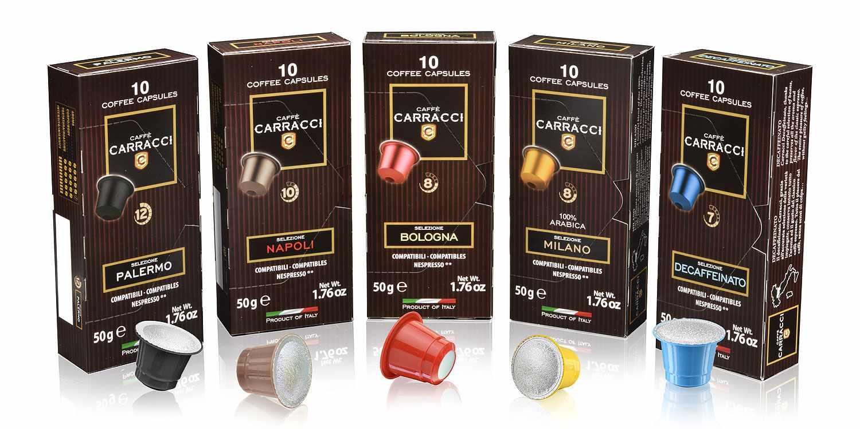 0610045 - 100 Capsule Cialde Caffè Compatibili Nespresso® Degustazione Miscele Varie -