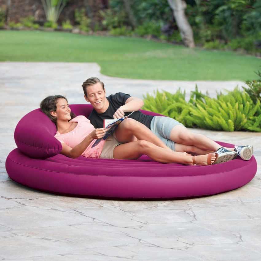 Divano rotondo gonfiabile Intex 68881 giardino e piscina - outdoor