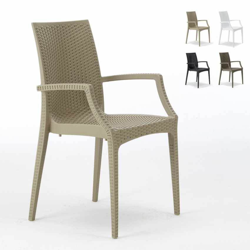 Lot of 20 Garden Chairs with Armrests Italian Design BISTROT ARM - foto