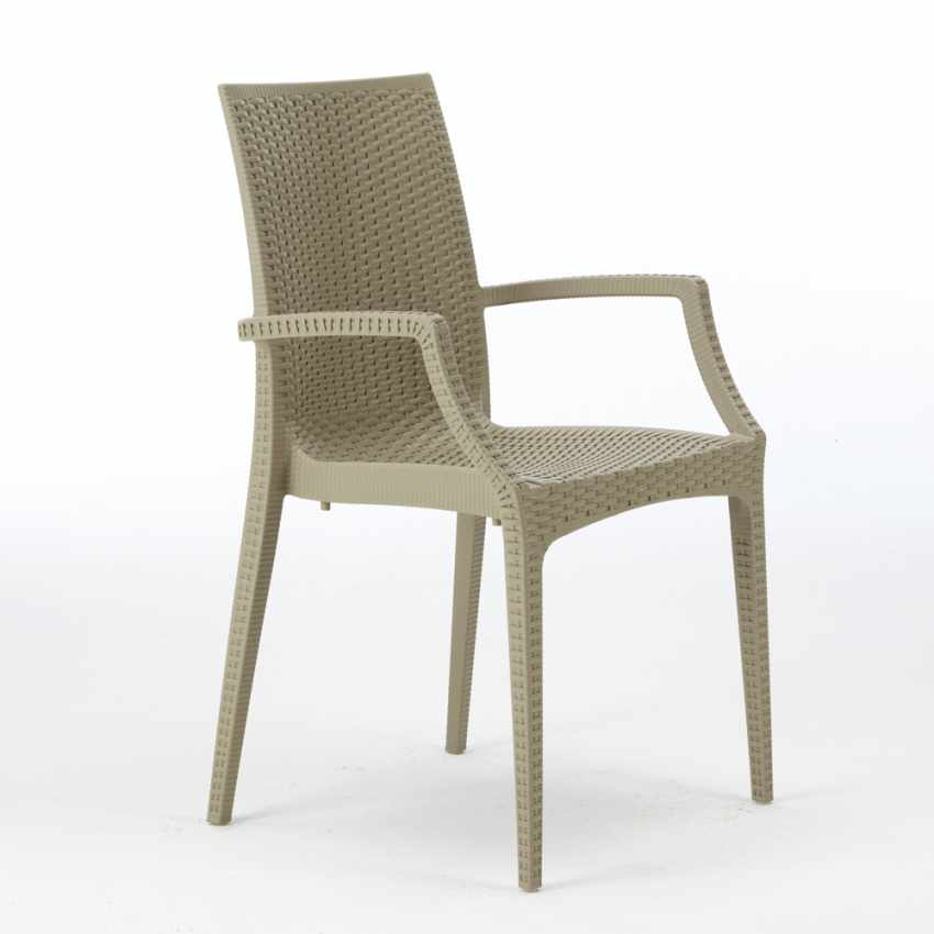 Lot of 20 Garden Chairs with Armrests Italian Design BISTROT ARM - nuovo