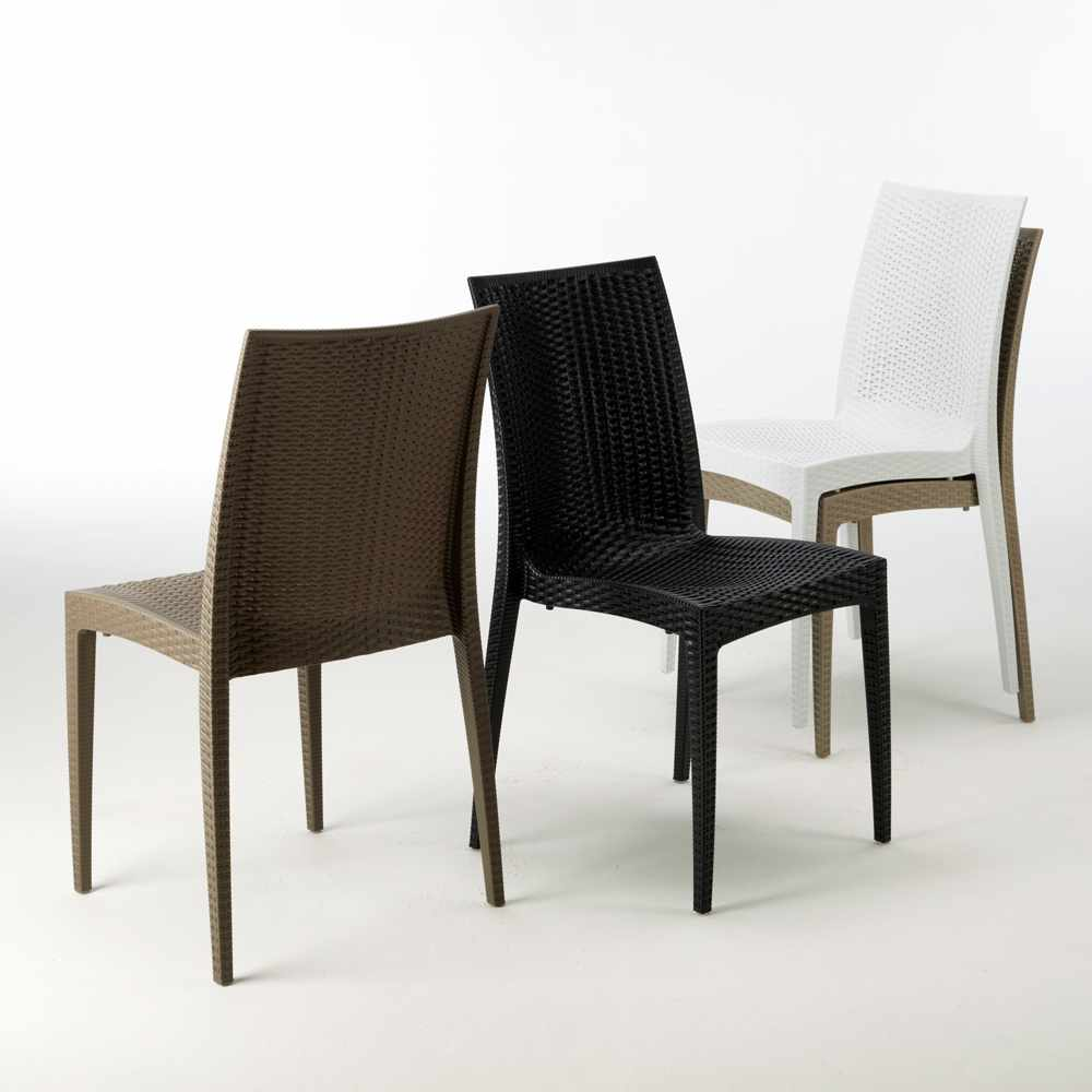 Sedie Giardino Grand Soleil.Sedie Poly Rattan Bar Giardino Gelateria Impilabile Bistrot Grand