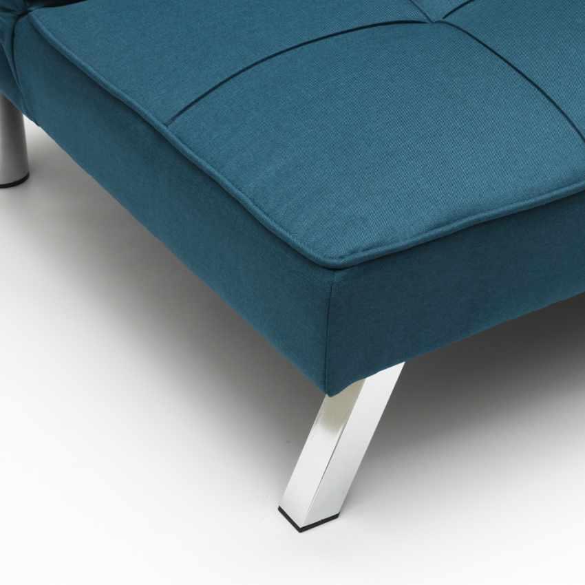 Divano letto in tessuto 2 posti design moderno GEMMA pronto letto - prezzo