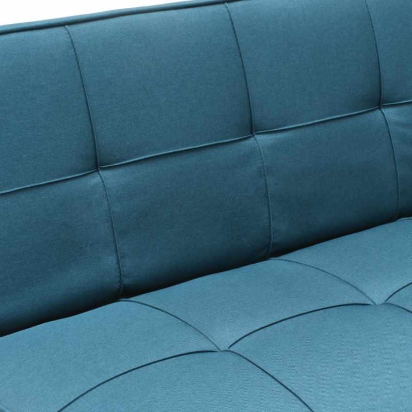 Divano letto in tessuto 2 posti design moderno GEMMA pronto letto - offerta