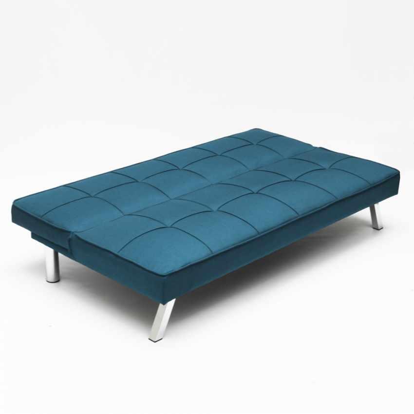 Divano letto in tessuto 2 posti design moderno GEMMA pronto letto - esterno