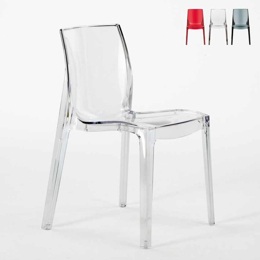 Sedie Bar Stock.Lot Of 16 Transparent Design Chair In Polycarbonate Made In Italy For The Kitchen Living Rooms Femme Fatale
