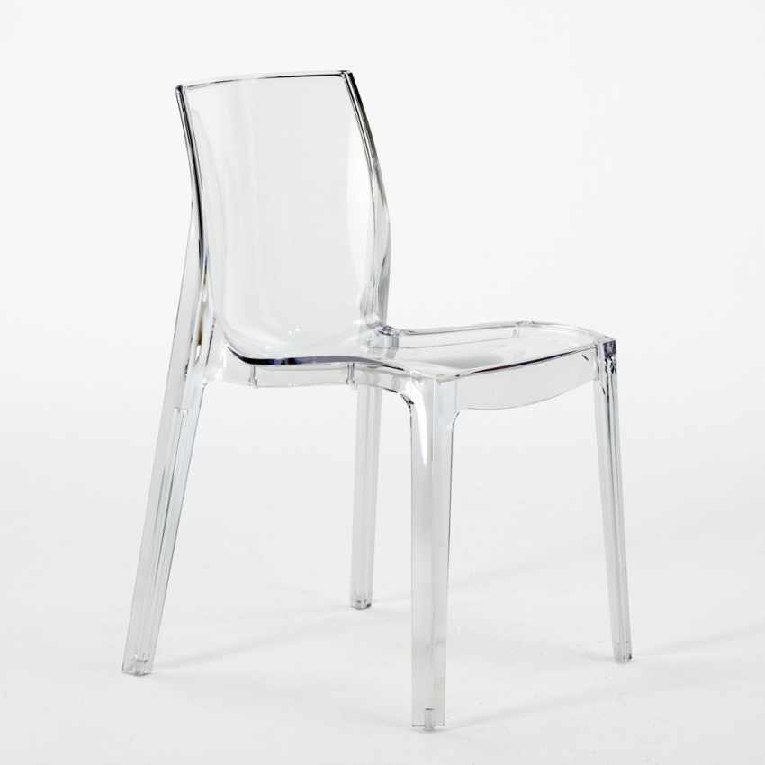 Lot of 16 Transparent Design Chair in Polycarbonate Made in Italy for the Kitchen Living Rooms FEMME FATALE - promo
