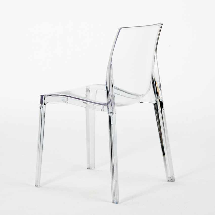 Lot of 16 Transparent Design Chair in Polycarbonate Made in Italy for the Kitchen Living Rooms FEMME FATALE - esterno