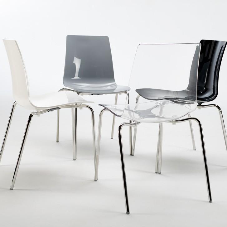 Details zu Sedie bar cucina gambe acciaio design moderno impilabile  LOLLIPOP Grand Soleil