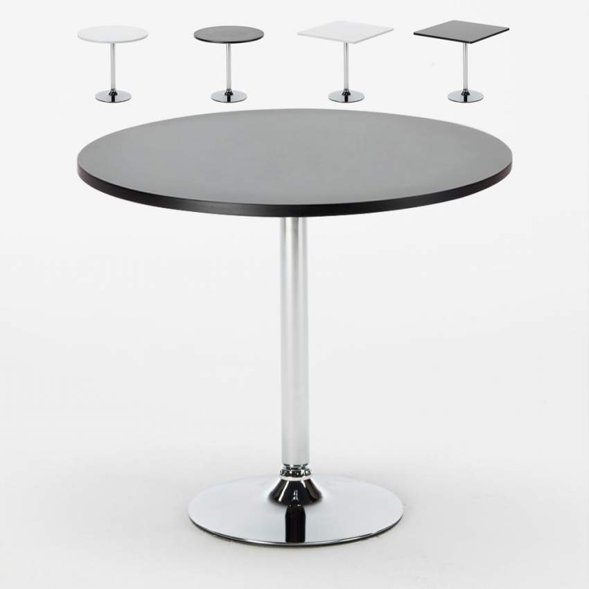 Tavolino bar rotondo quadrato nero bianco 70x70 BISTROT - details