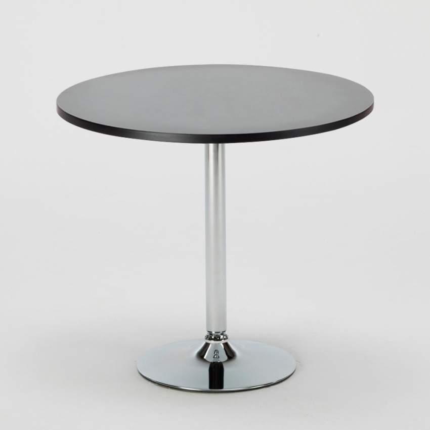 Tavolino bar rotondo quadrato nero bianco 70x70 BISTROT - best
