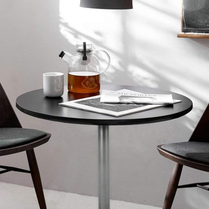 Tavolino bar rotondo quadrato nero bianco 70x70 BISTROT - forniture