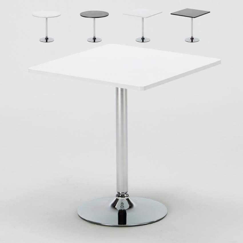 Offerte Tavolini Bar.Tavolino Bar Rotondo Quadrato Nero Bianco 70x70 Bistrot
