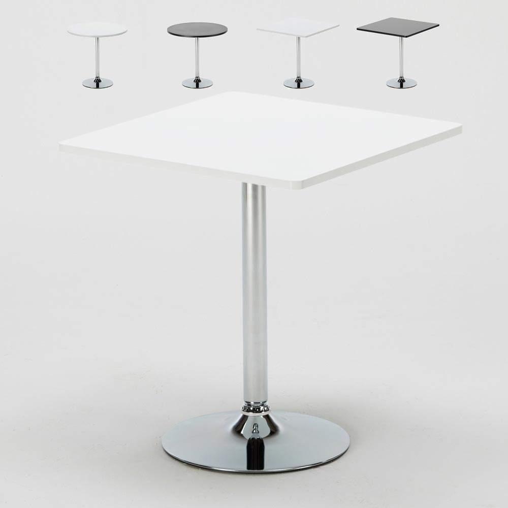 Tavolino Da Bar 70x70 Rotondo O Quadrato Con Gamba Centrale Bistrot