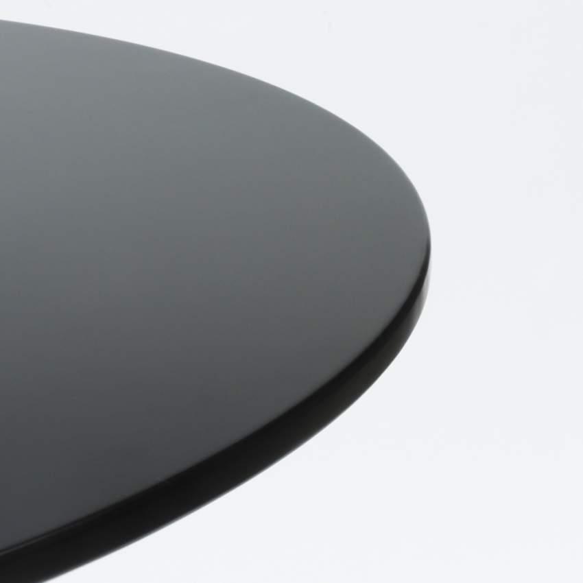 Mesa TULIP redonda negra y blanca para bar y salones 80x80cm - image