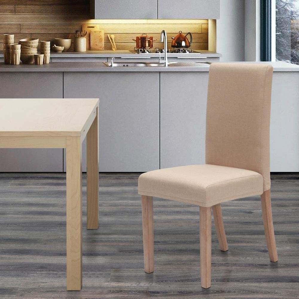 miniatura 17 - Sedia in legno imbottita stile henriksdal per cucina sala da pranzo Comfort