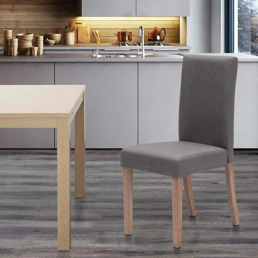 miniatura 29 - Sedia in legno imbottita stile henriksdal per cucina sala da pranzo Comfort