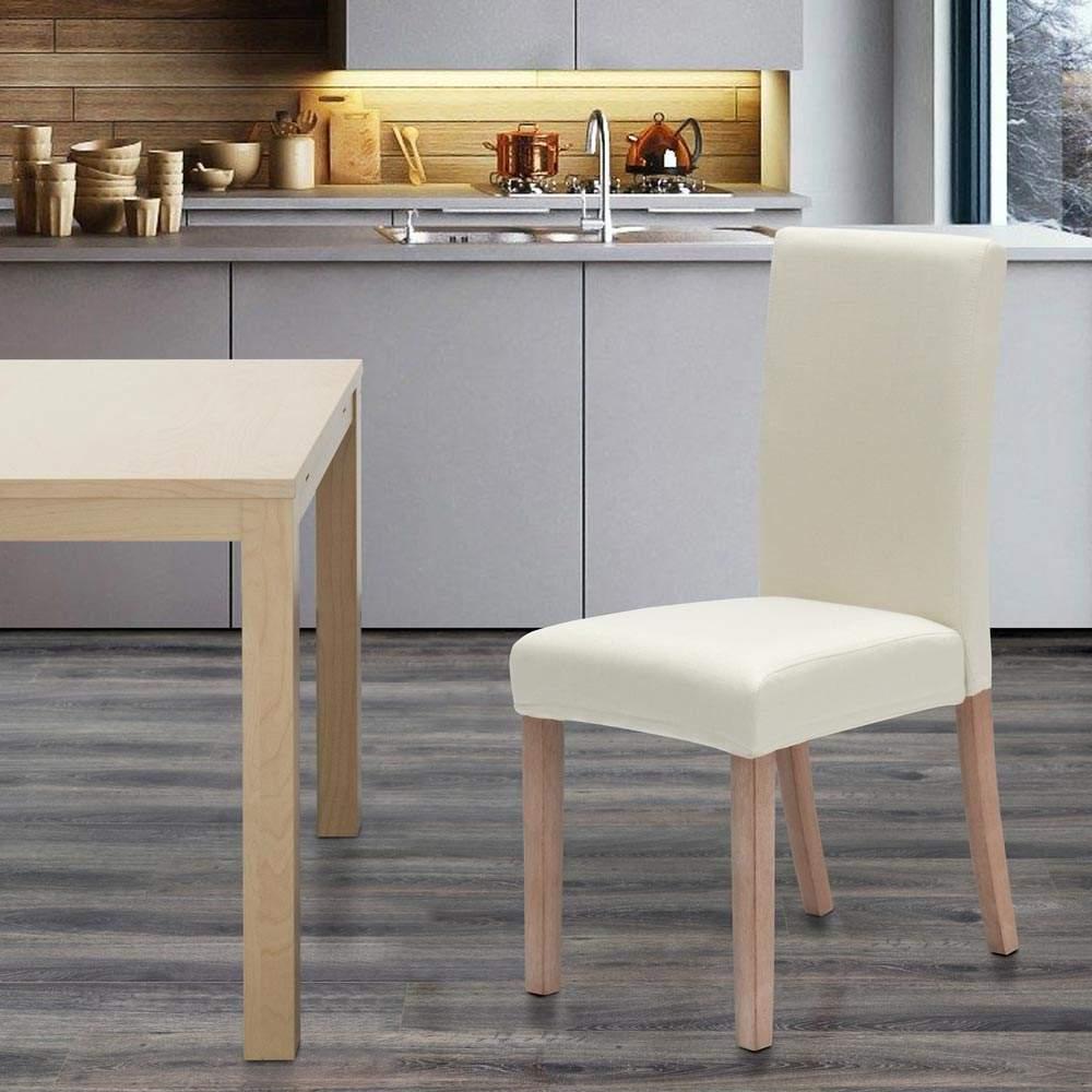 miniatura 23 - Sedia in legno imbottita stile henriksdal per cucina sala da pranzo Comfort