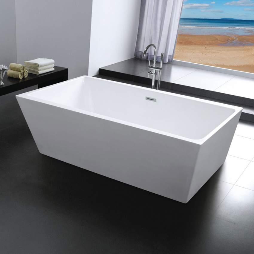 Vasca Da Bagno Rettangolare.Vasca Da Bagno Design Freestanding Ad Isola Rettangolare Milo