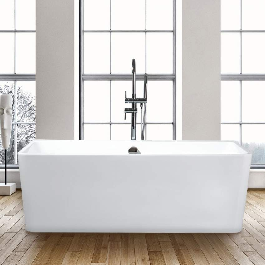 Vasche Da Bagno Moderne.Vasca Da Bagno Rettangolare Freestanding Design Moderno Icaria