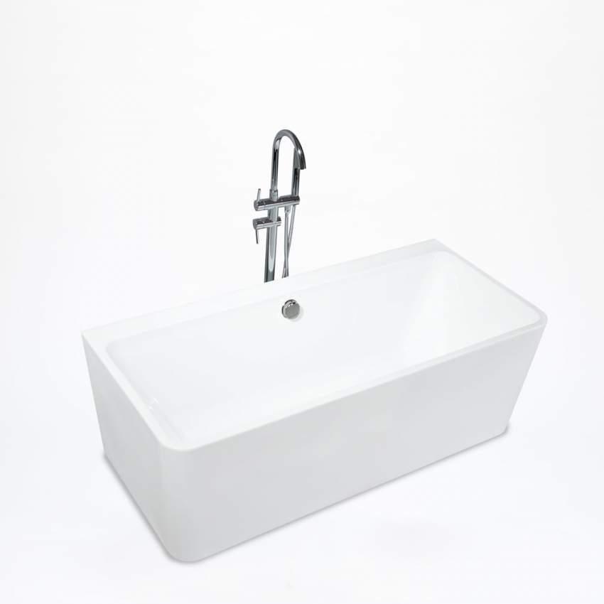 Vasca Da Bagno Rettangolare.Vasca Da Bagno Rettangolare Freestanding Design Moderno Icaria