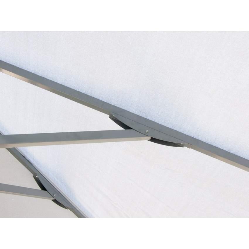 Ombrellone giardino 3x3 alluminio quadrato palo centrale bar hotel MARTE - outdoor