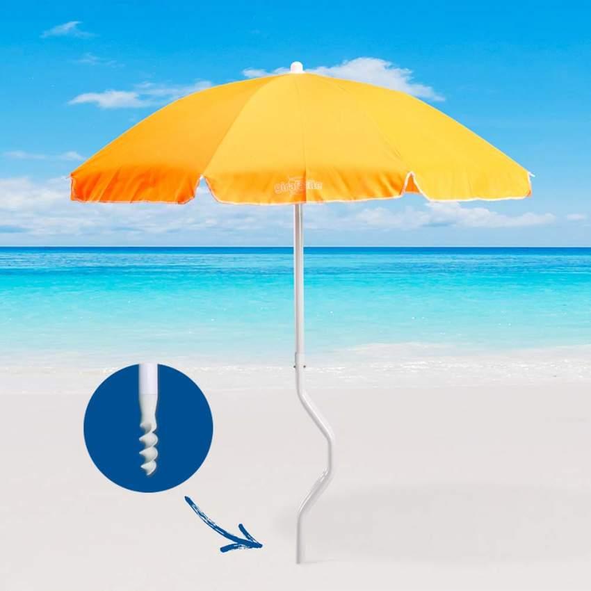 Ombrellone mare GiraFacile 180 Cm Cotone spiaggia pesca DIONISO - sales