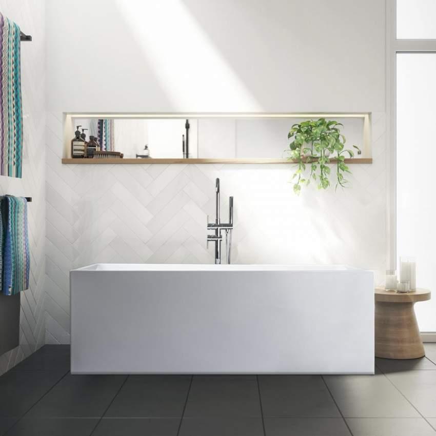 Vasca da bagno freestanding design classico in resina acrilica eubea for Vasca da bagno freestanding