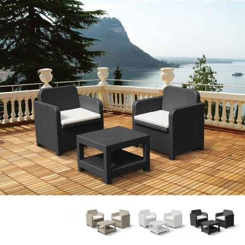 Gartenmöbel Set: Garten Lounge, Tische, Rattan Möbel