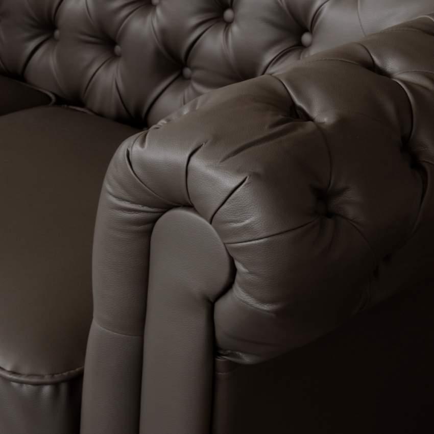 canap chesterfield capitonn en similicuir 2 places. Black Bedroom Furniture Sets. Home Design Ideas