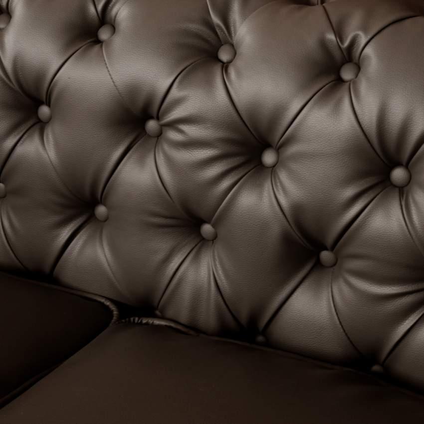 Canapé en Similicuir deux places Capitonné CHESTERFIELD Design - migliore