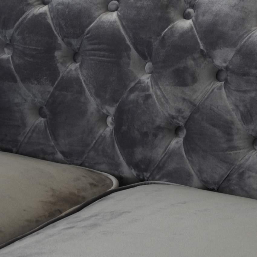 Canapé en tissu velouté deux places Capitonné CHESTERFIELD Design - arredamento