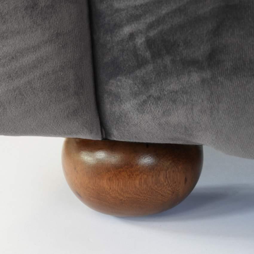 Canapé en tissu velouté deux places Capitonné CHESTERFIELD Design - offerta