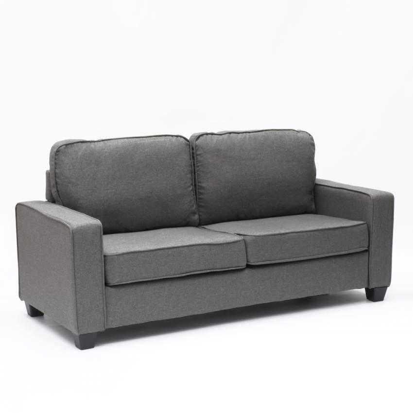 Divano 2 posti in tessuto per salotto e sale d'attesa design RUBINO - offerta