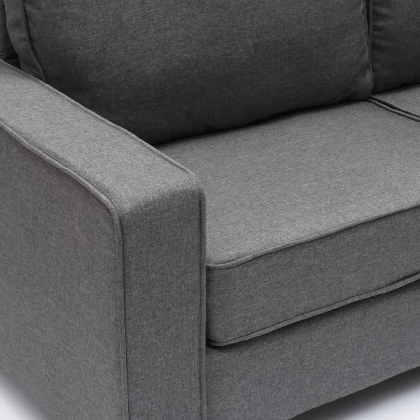 Divano 2 posti in tessuto per salotto e sale d'attesa design RUBINO - foto