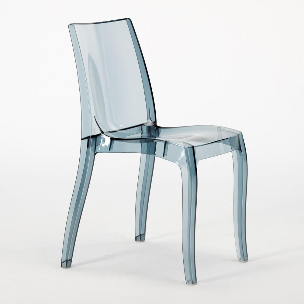 miniature 22 - Chaise salle à manger bar transparent empilable CRISTAL LIGHT Grand Soleil