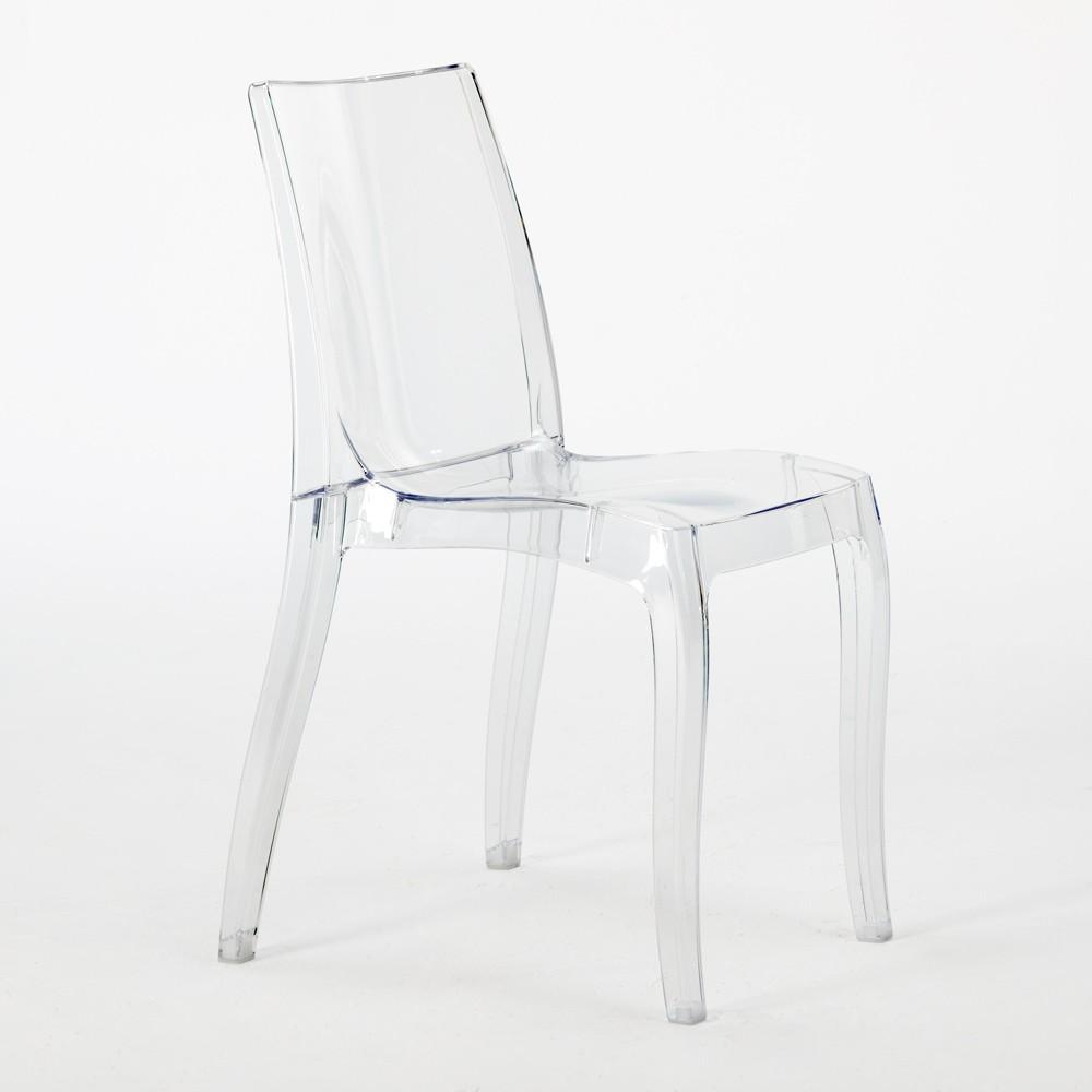 miniature 13 - Chaise salle à manger bar transparent empilable CRISTAL LIGHT Grand Soleil