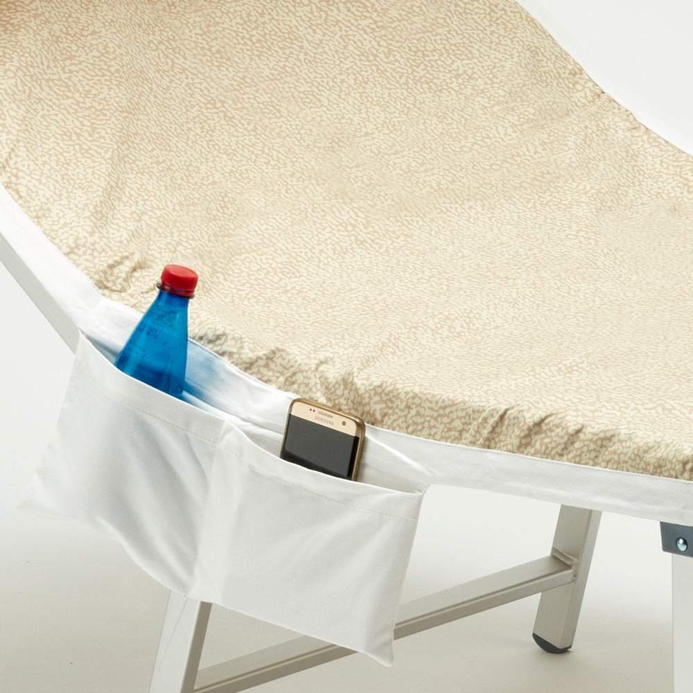 Laxllent telo da spiaggia vacanze telo da spiaggia in microfibra telo coprisedia a sdraio salotto con tasche per campeggio giardino ad asciugatura rapida azzurro cielo