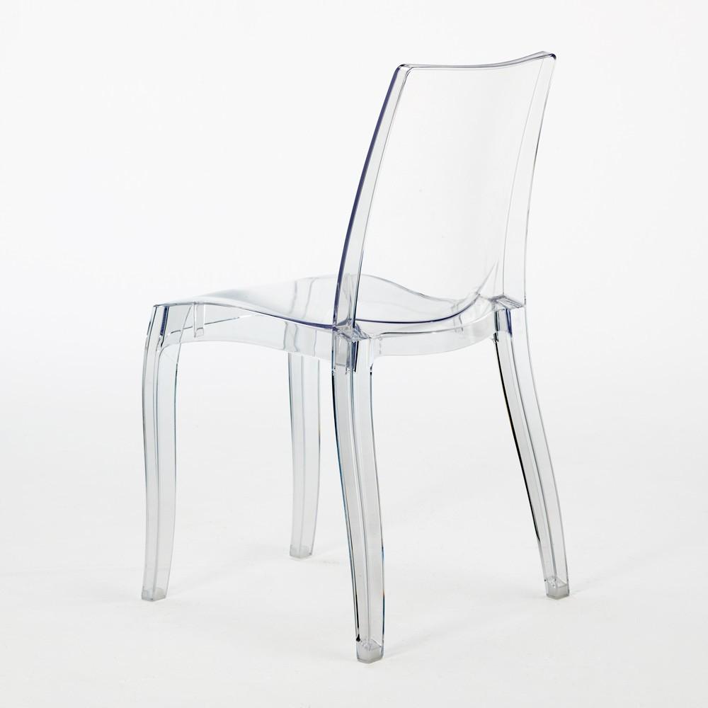 miniature 14 - Chaise salle à manger bar transparent empilable CRISTAL LIGHT Grand Soleil