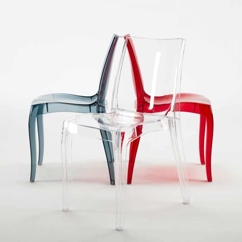 chaise empilable en polycarbonate transparent pour salle. Black Bedroom Furniture Sets. Home Design Ideas