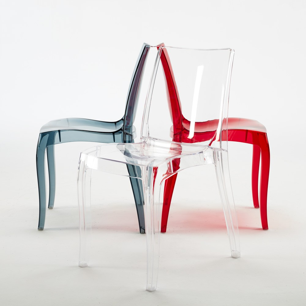 miniature 15 - Chaise salle à manger bar transparent empilable CRISTAL LIGHT Grand Soleil