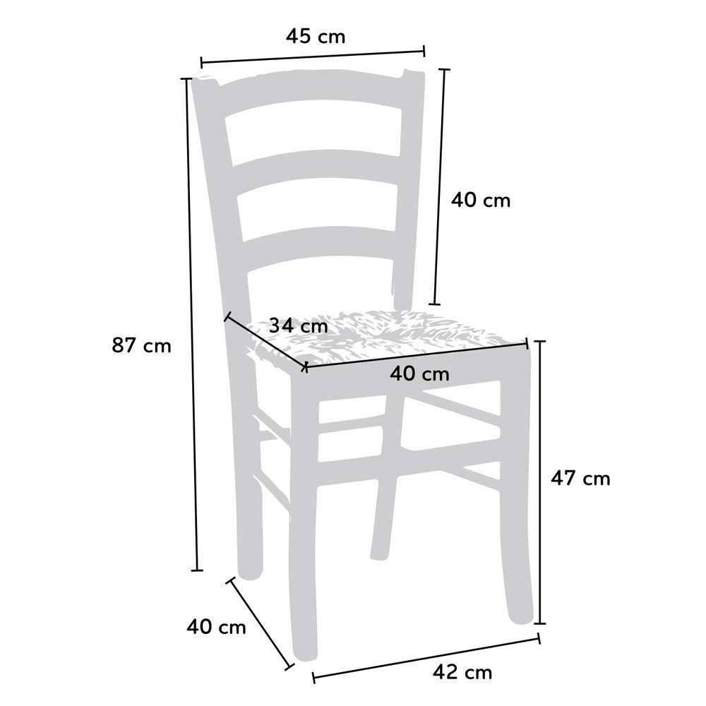 Sedia-in-legno-e-seduta-impagliata-per-cucina-bar-e-trattoria-rustica-PAESANA miniatura 18
