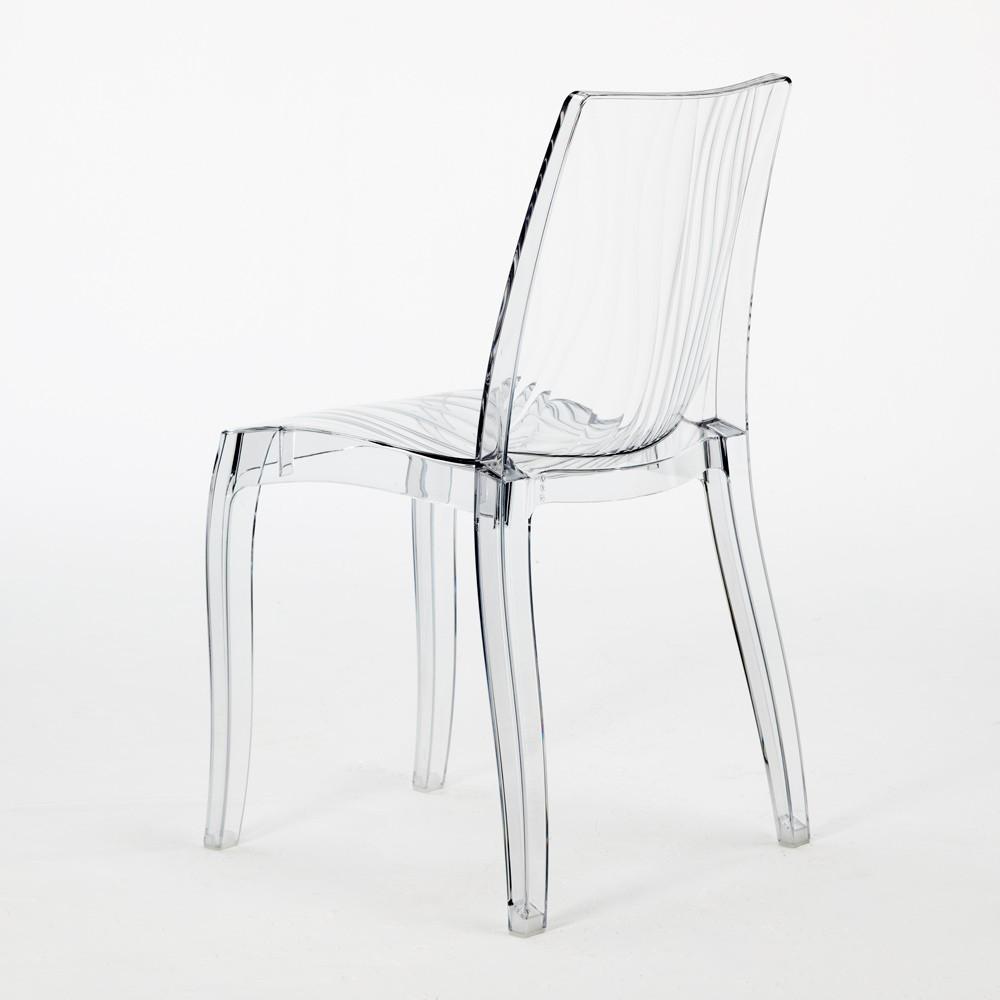 miniature 12 - Chaise bar salle à manger polycarbonate transparent empilable Dune Grand Soleil