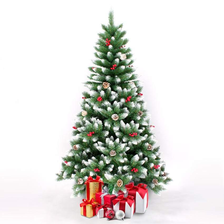Alberi Di Natale Addobbati Foto.Dettagli Su Albero Di Natale Artificiale 210 Cm Addobbato Con Decorazioni Rovaniemi