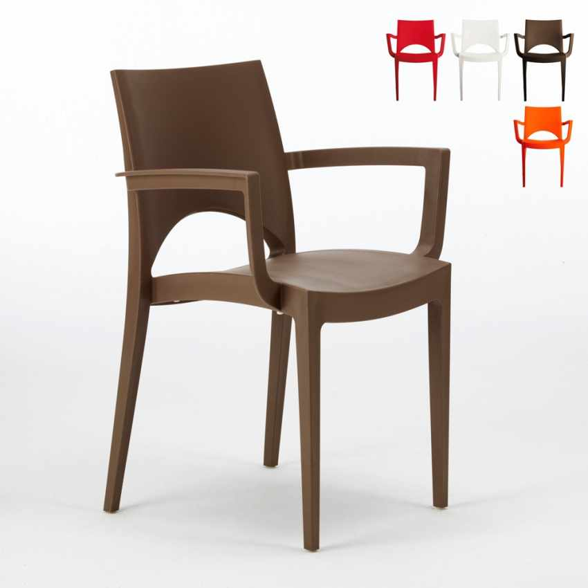 Sedie con braccioli in polipropilene per bar e ristorante PARIS ARM Grand Soleil - discount