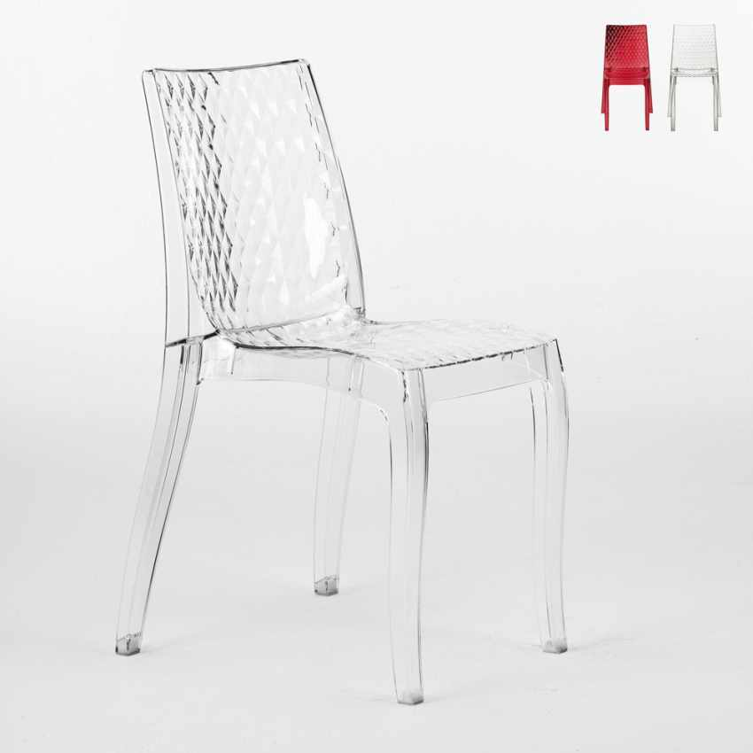 Sedie cucina e bar policarbonato trasparente impilabile HYPNOTIC Grand Soleil - price