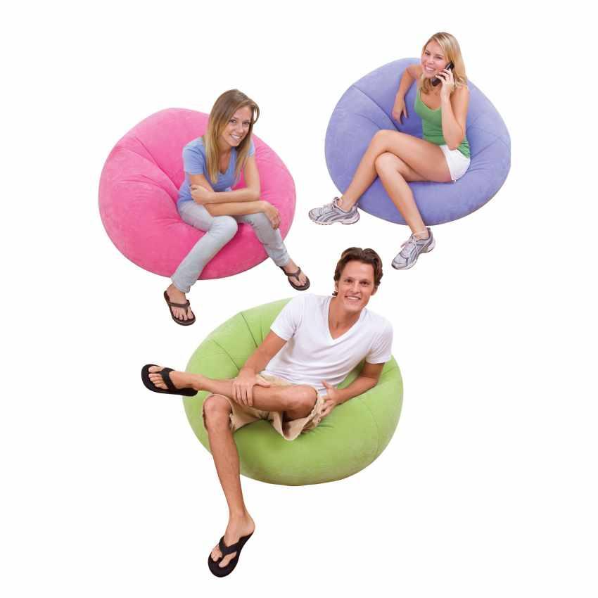 Fauteil pouff gonflable Intex 68569 pour maison, jardin, TV - best