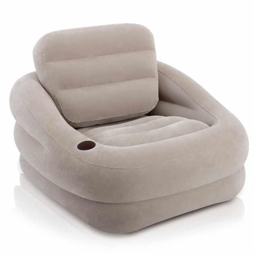 Fauteuil pouf gonflable Intex 68587 pour maison, jardin, TV - forniture