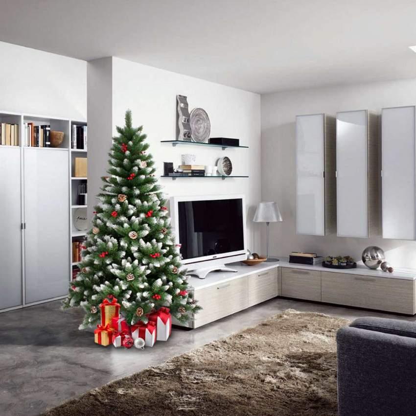 bergen k nstlicher weihnachtsbaum geschm ckt deko 180 cm. Black Bedroom Furniture Sets. Home Design Ideas